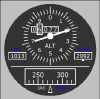 Boeing Style Altimeter/ASI Standby Instrument - Click to Zoom