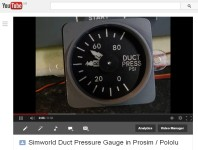 Simworld Duct Pressure Gauge.
